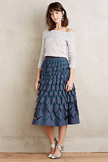 Diamond-Cut Felt Skirt