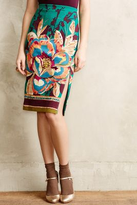 Tapestry Pencil Skirt
