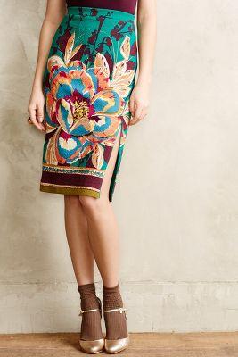 Tapestry Pencil Skirt