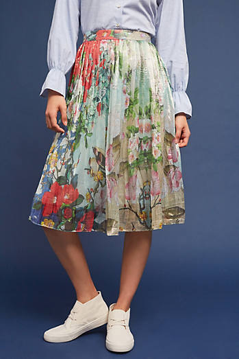 Jardin Pleated Skirt