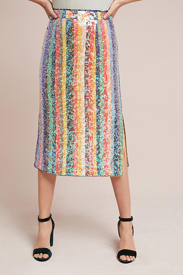 Sequined Palette Midi Skirt