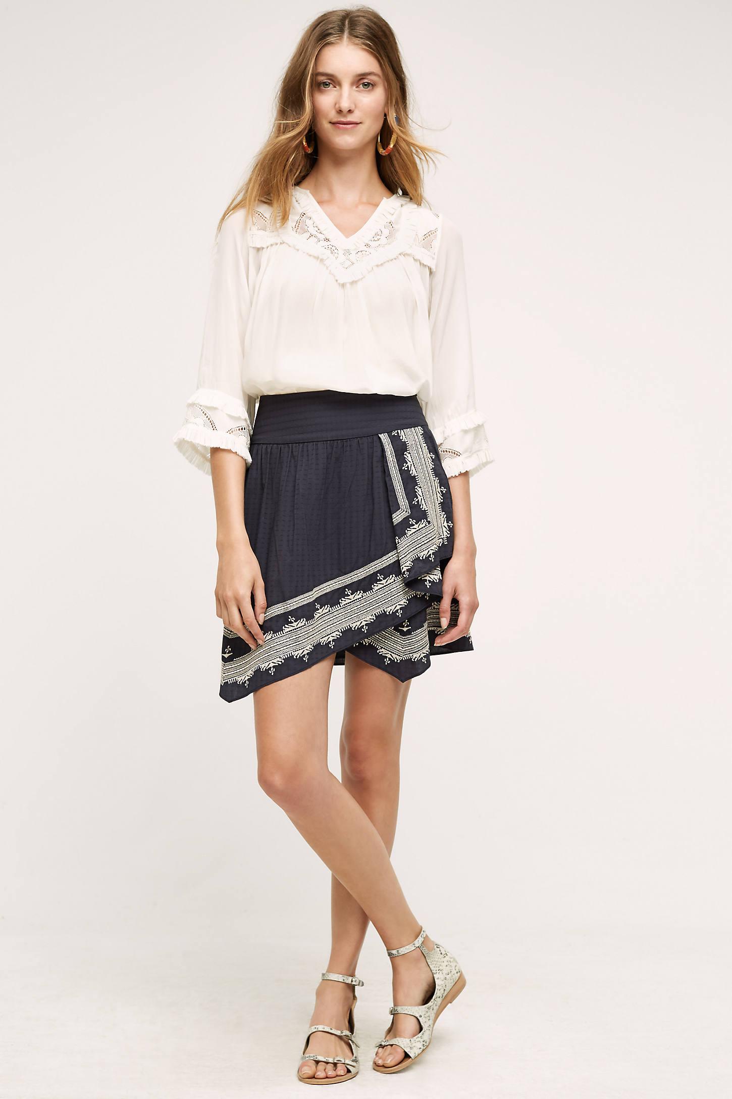 Tessa Draped Skirt, Black
