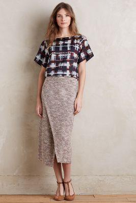 Sweater Wrap Midi Skirt