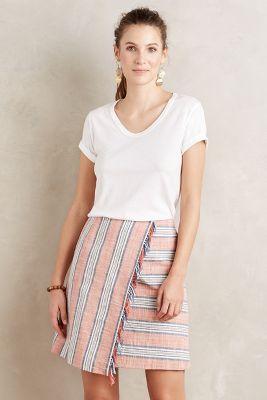 Fringed Wrap Skirt