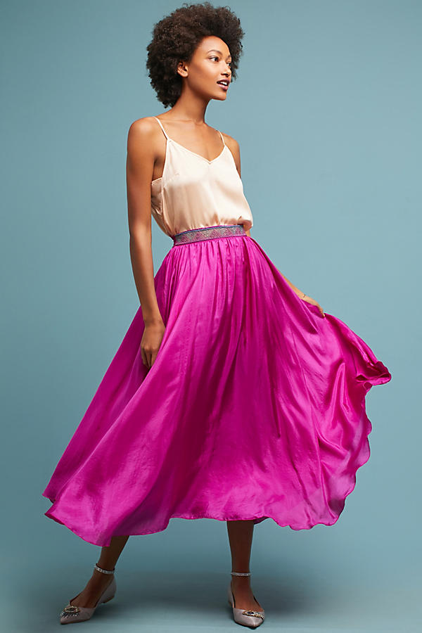 Libra Silk Skirt