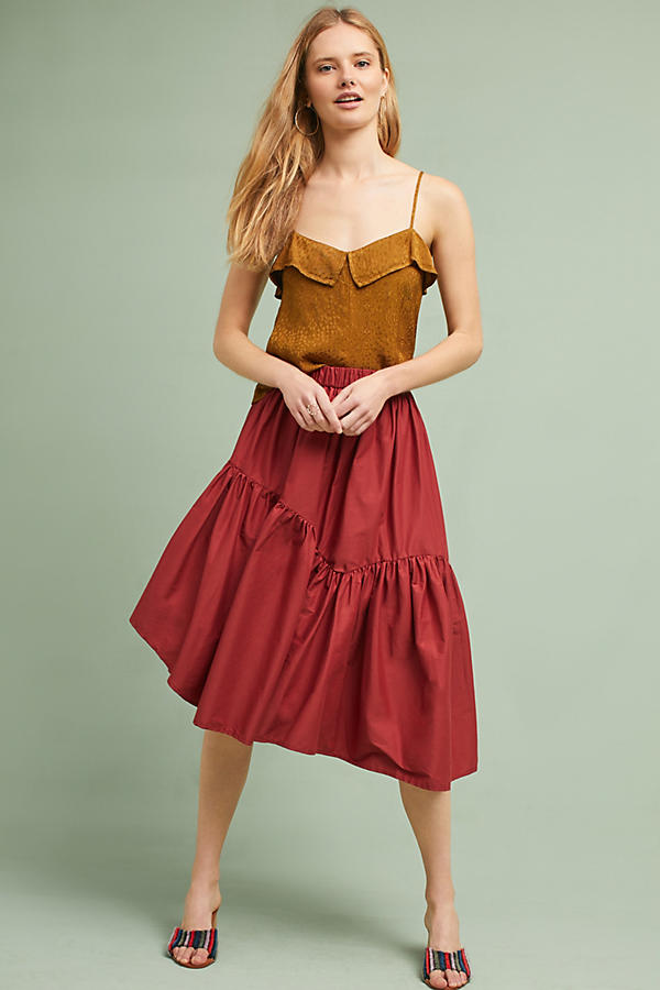 Asymmetrical Poplin Skirt