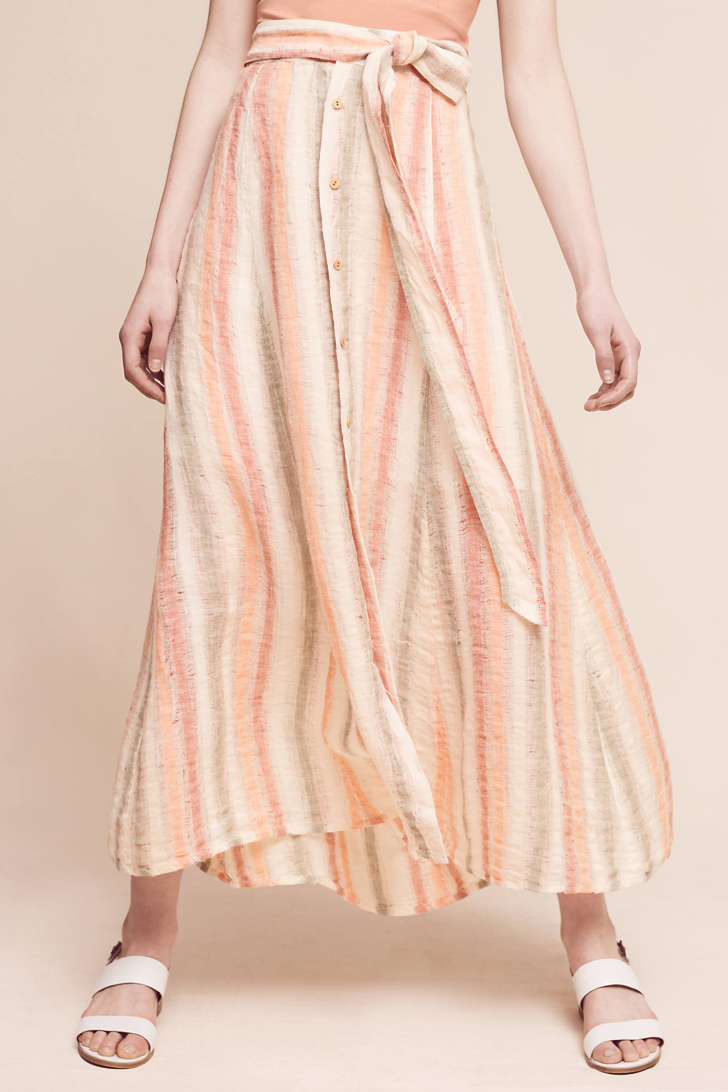Sun-Striped Maxi Skirt