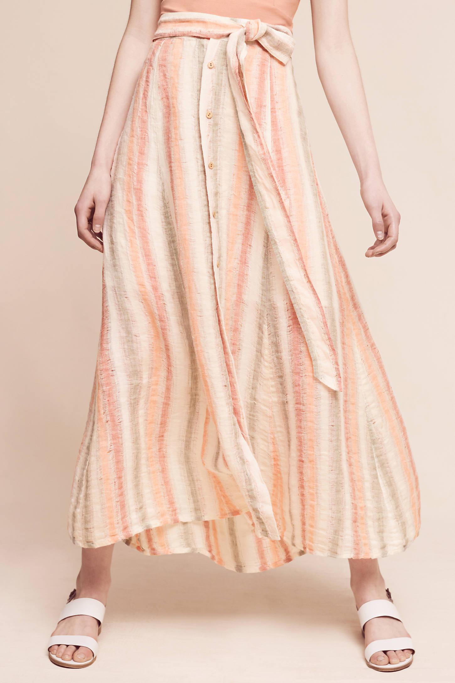 Sun-Striped Maxi Skirt