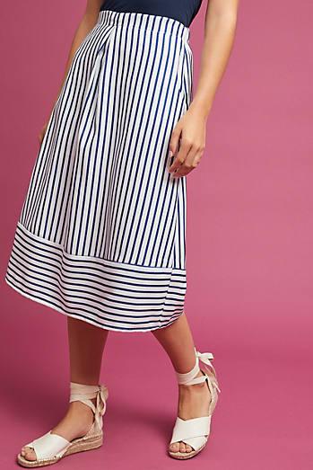 Freeport Striped Midi Skirt