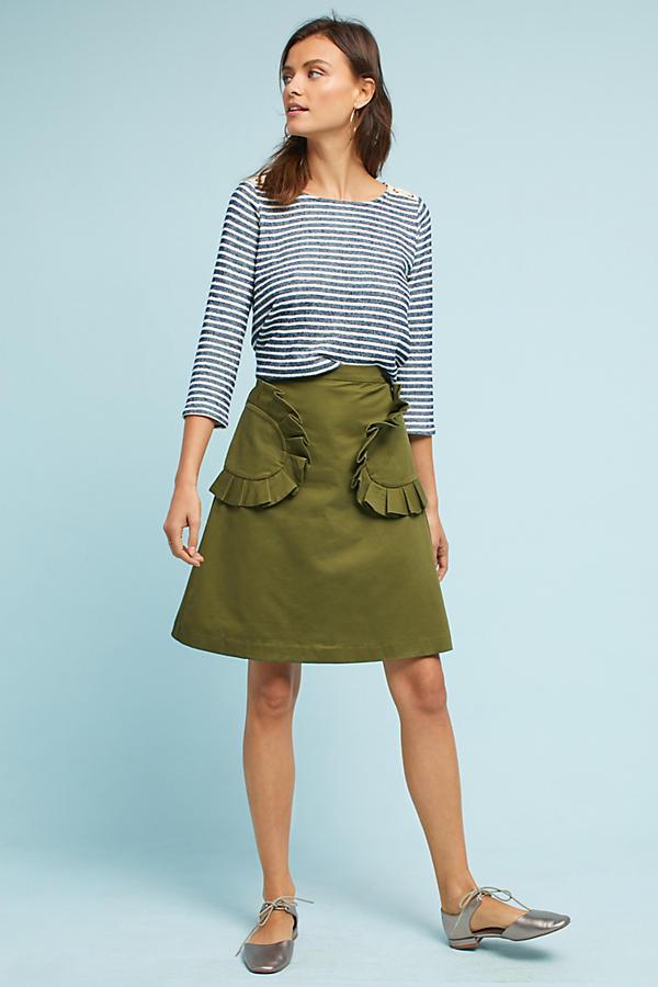 Ruffled Pocket Skirt