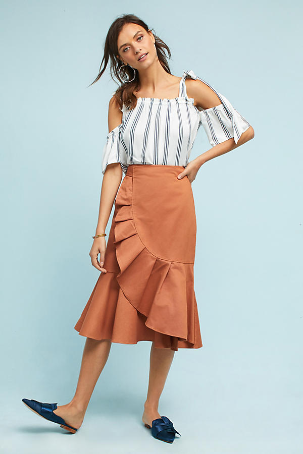 Sequoia Ruffled Wrap Skirt