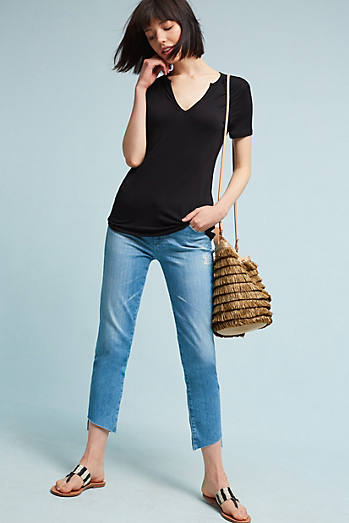 AG The Stevie Mid-Rise Skinny Cropped Jeans