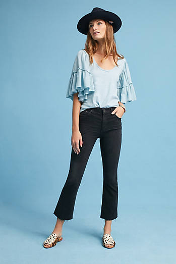 AG The Jodi High-Rise Cropped Flare Jeans
