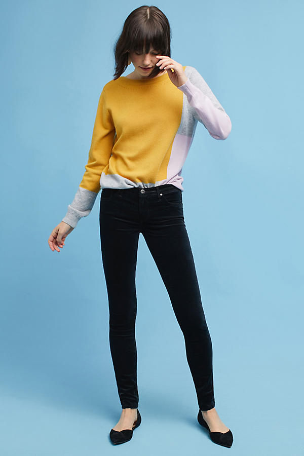 AG The Velvet Legging Low-Rise Skinny Jeans