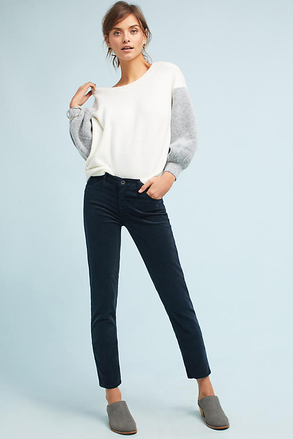 AG Prima Corduroy Mid-Rise Pants