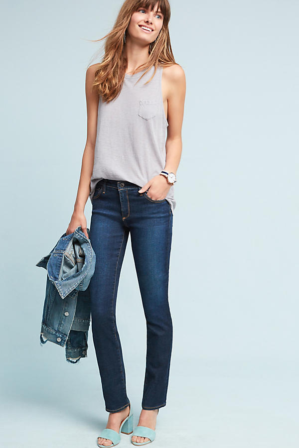 AG The Harper Mid-Rise Straight Jeans