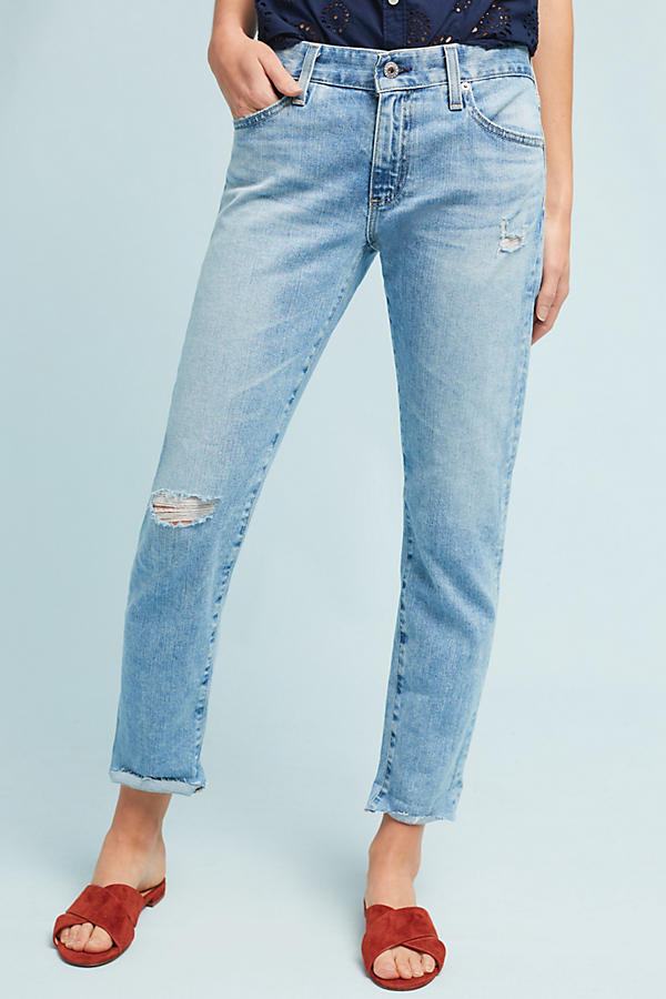 AG The Nolan Mid-Rise Straight Cropped Jeans