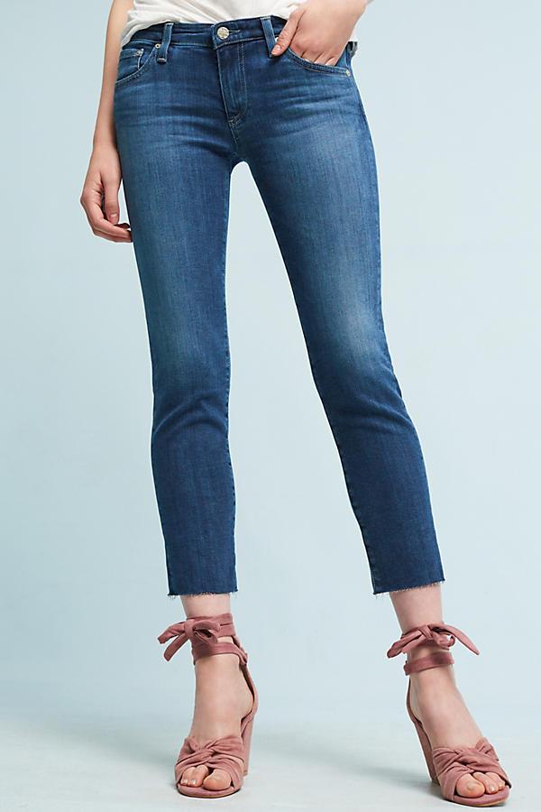 AG The Stilt Low-Rise Cigarette Cropped Jeans