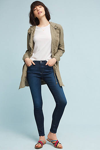 AG The Abbey Mid-Rise Skinny Ankle Jeans
