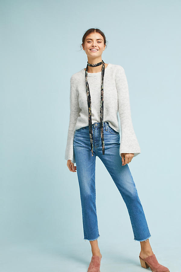 AG The Isabelle High-Rise Straight Cropped Jeans
