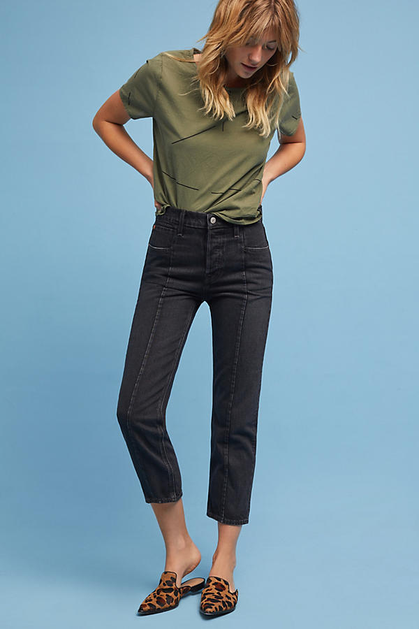 Levi's Altered Straight High-Rise Cropped Jeans