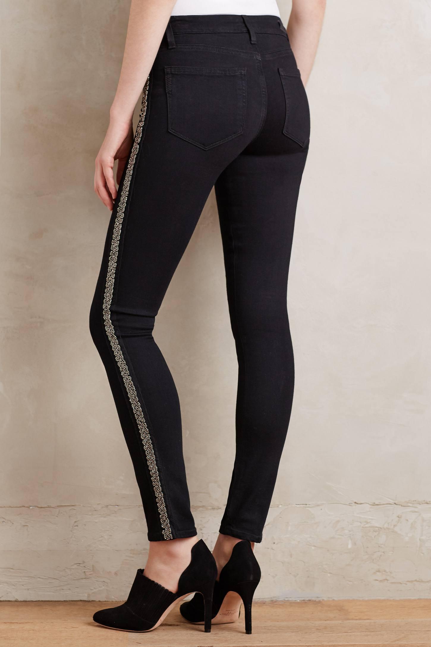 Paige Verdugo Beaded Skinny Jeans