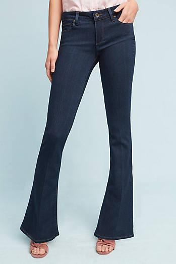 Paige Lou Lou Mid-Rise Flare Petite Jeans