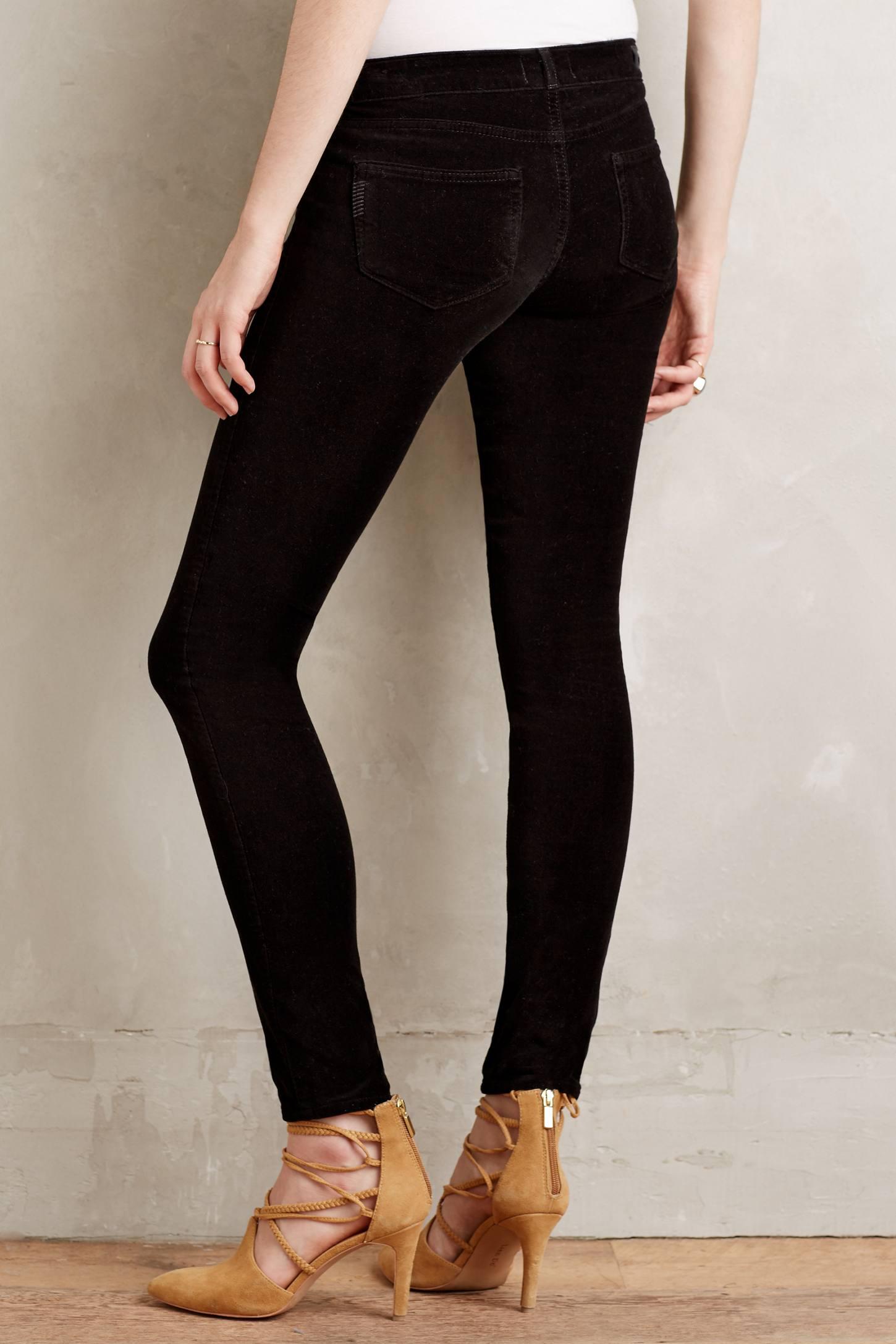 Paige Verdugo Velvet Skinny Jeans
