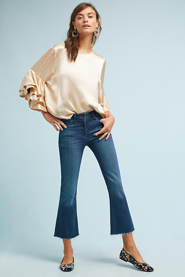 3x1 NYC W25 Midway Extreme Crop Bell Mid-Rise Jeans