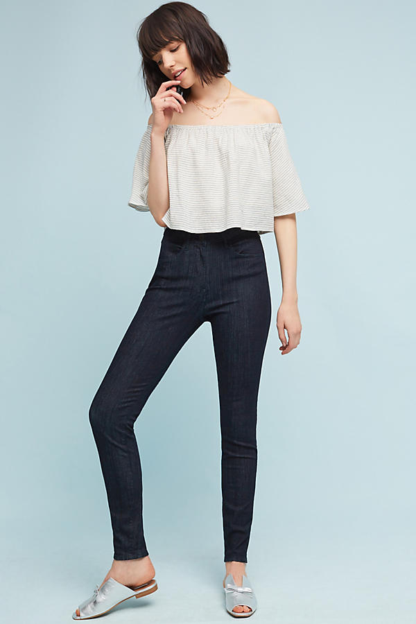3x1 NYC W3 High-Rise Channel Seam Skinny Jeans