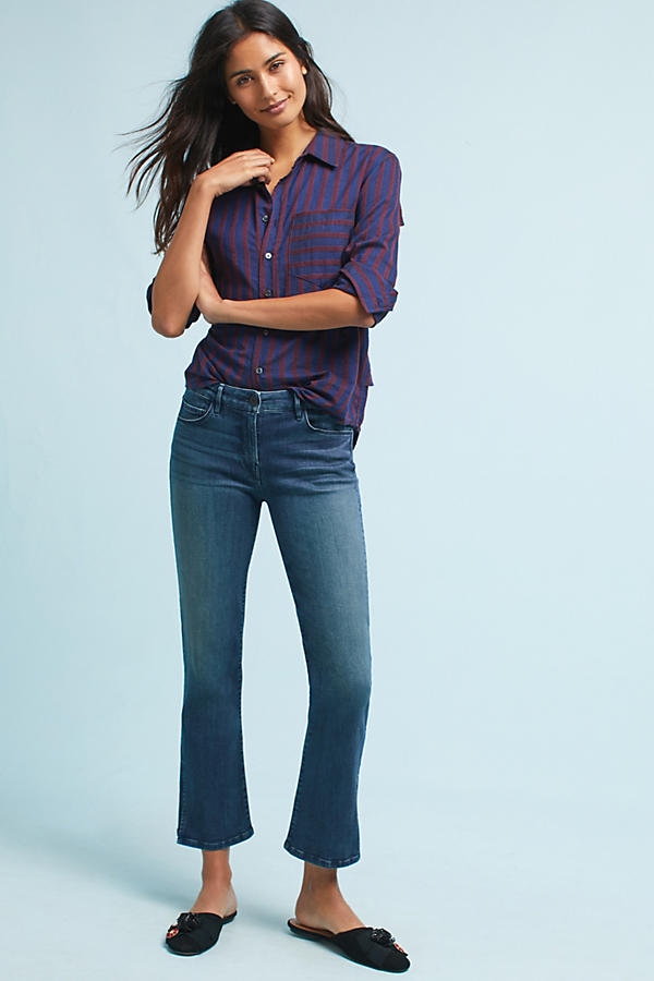 3x1 NYC W2 Mid-Rise Split Bell Cropped Jeans