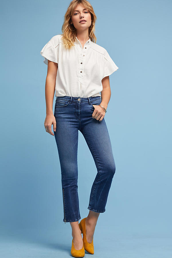 3x1 NYC W25 Midway Mid-Rise Cropped Bootcut Jeans