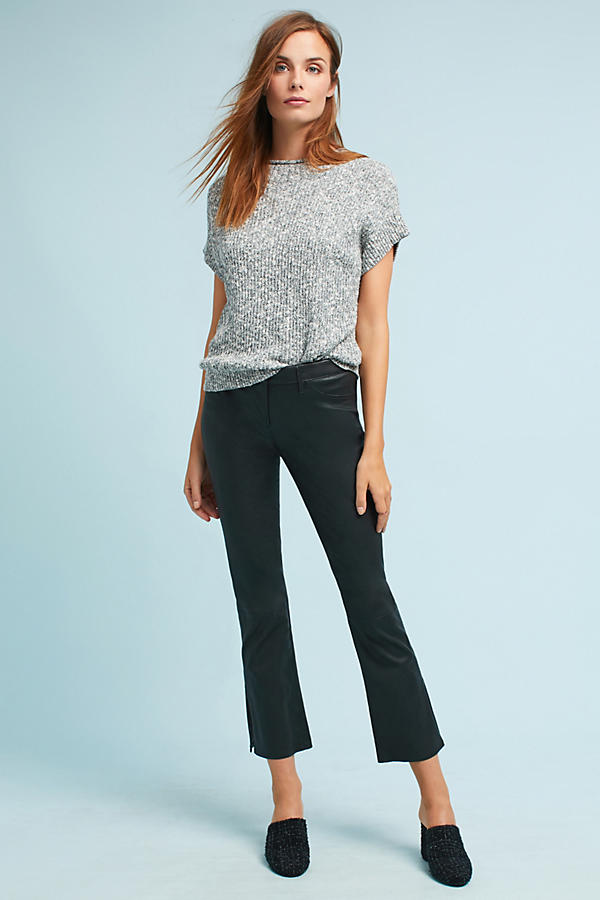 3x1 NYC W2 Mid-Rise Split Bell Cropped Leather Pants