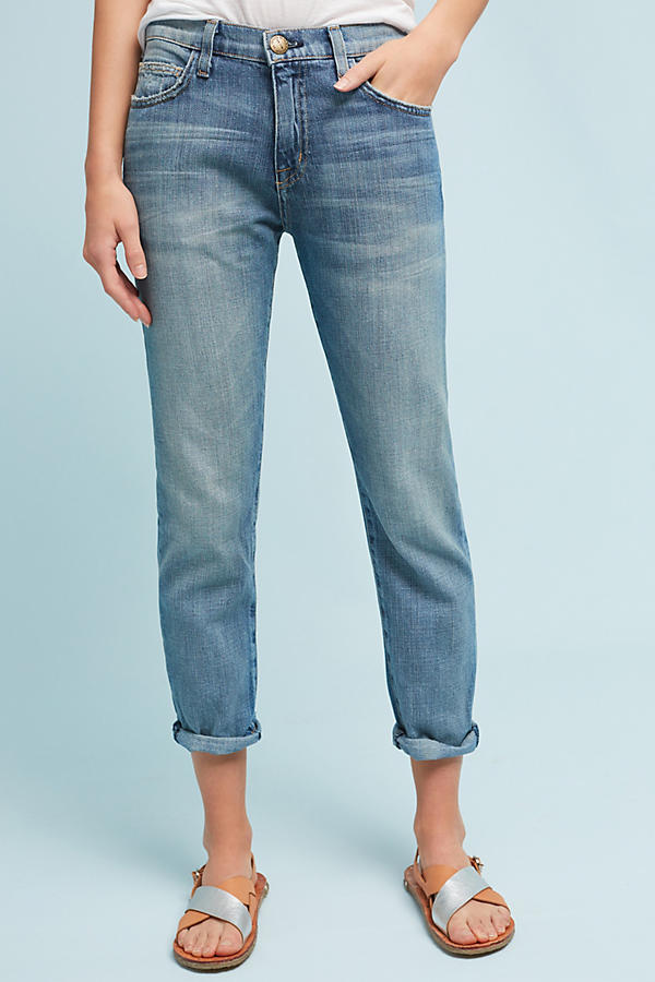 Current/Elliott The Fling Relaxed Mid-Rise Cropped Jeans