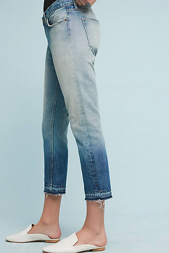 Current/Elliott The Cropped Straight Mid-Rise Jeans