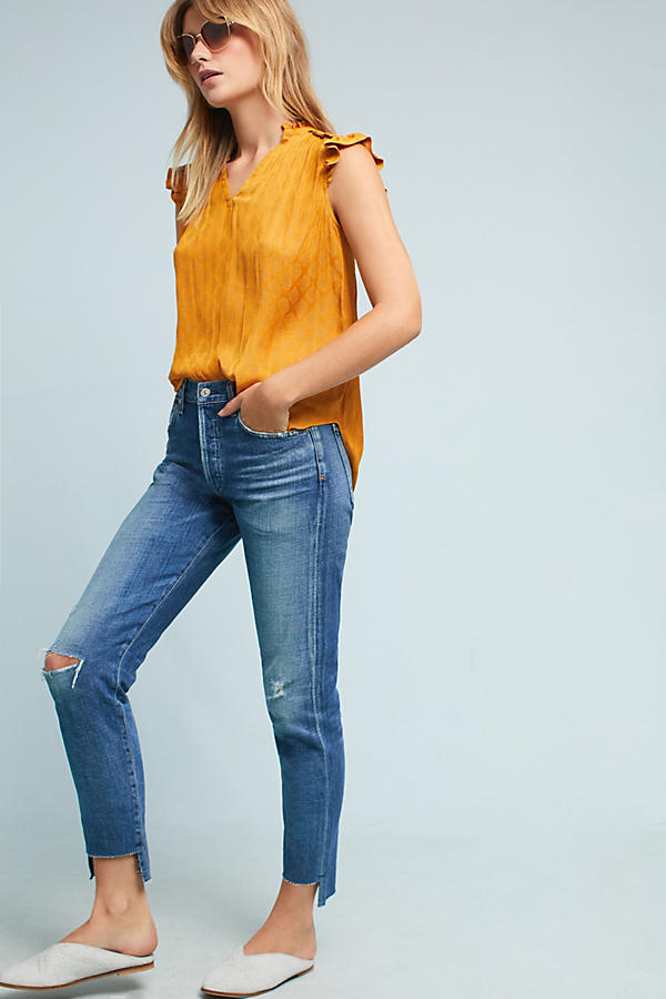 Citizens Of Humanity Liya Ultra High-Rise Slim Cropped Jeans