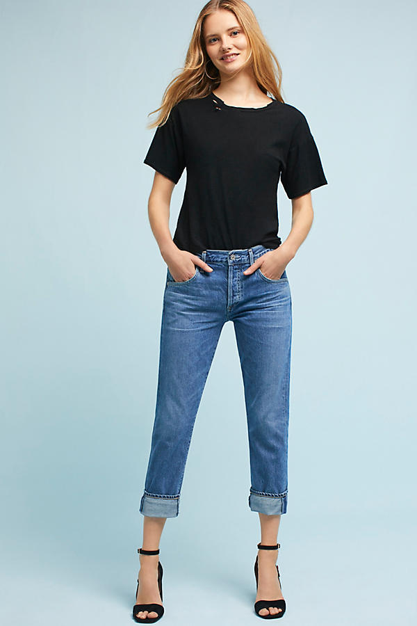 Citizens of Humanity Emerson Mid-Rise Slim Boyfriend Ankle Jeans