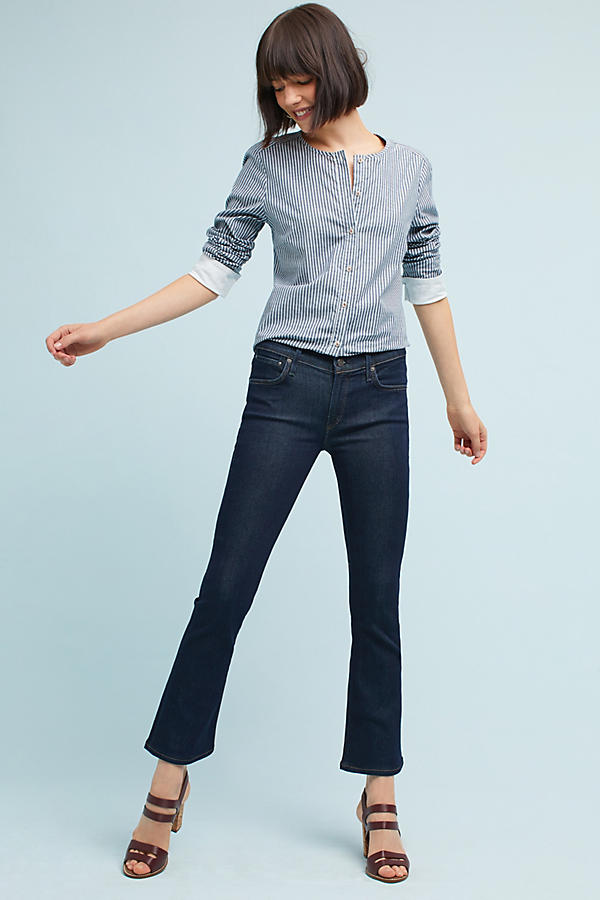 Citizens of Humanity Emmanulle Crop Mid-Rise Slim Bootcut Jeans