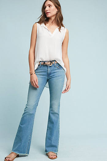 James Jeans Bella Mid-Rise Slim Flared Petite Jeans