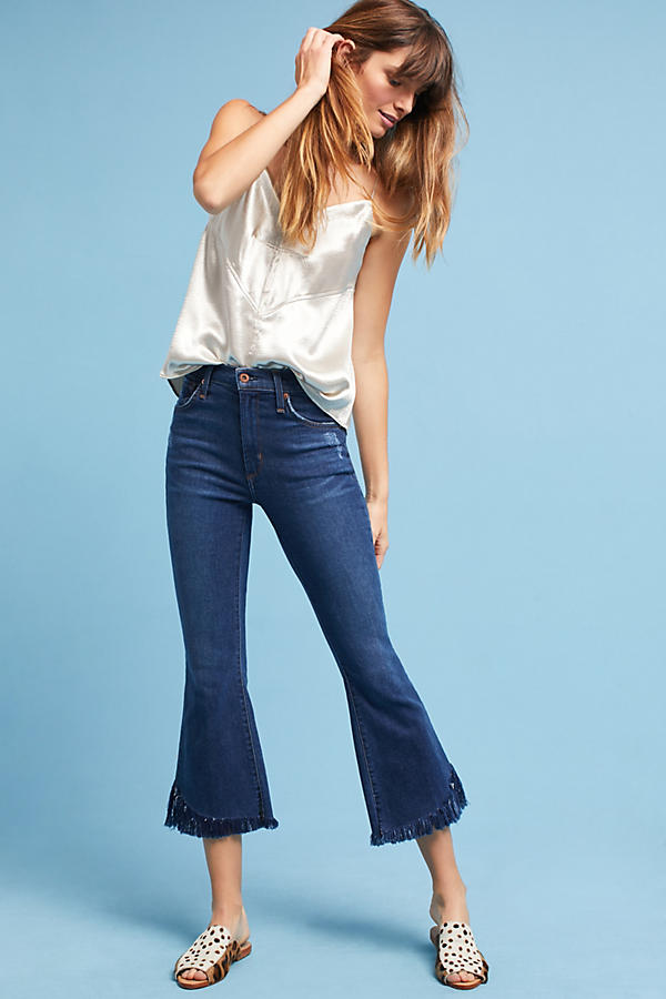 James Jeans Kiki High-Rise Cropped Flare Petite Jeans