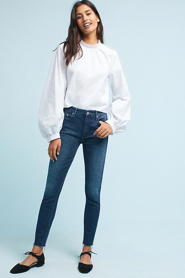 Mother The High-Waisted Looker Skinny Ankle Jeans