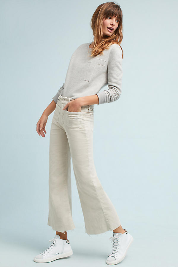 Mother The Patch Slacker Mid-Rise Cropped Flare Jeans