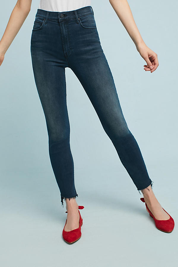 Mother The Stunner Ankle Step Fray High-Rise Skinny Jeans