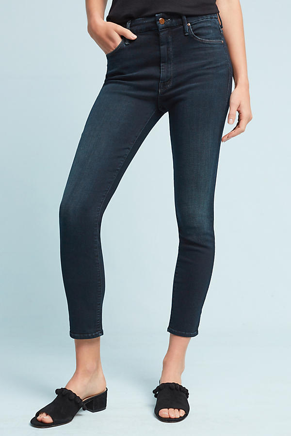 Mother The Looker Mid-Rise Skinny Petite Jeans