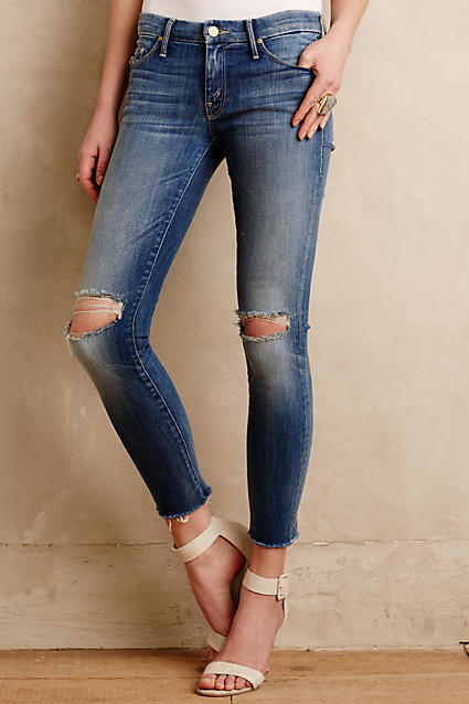 Sale alerts for Anthropologie Mother Looker Ankle Fray Jeans - Covvet