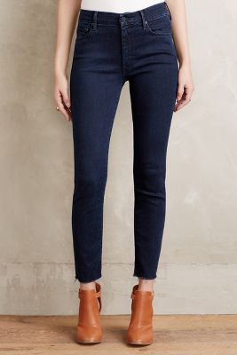 Mother Looker High-Rise Ankle Jeans