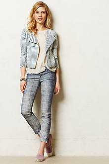 Mother Looker Skinny Fray Jeans