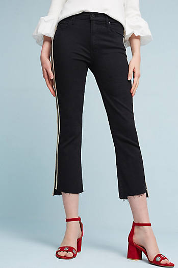Mother The Insider Crop Step Fray Mid-Rise Jeans