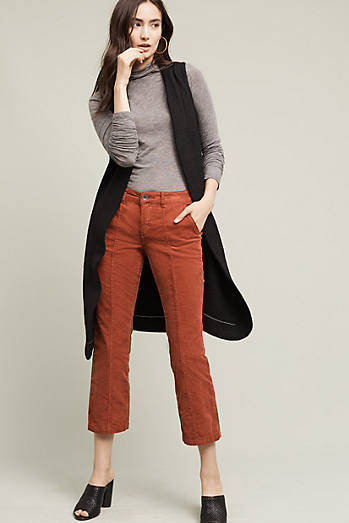 Pilcro Stet Mid-Rise Crop Flare Cords