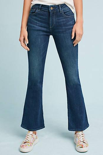 DL1961 Abbey Mid-Rise Slim Boot Petite Jeans